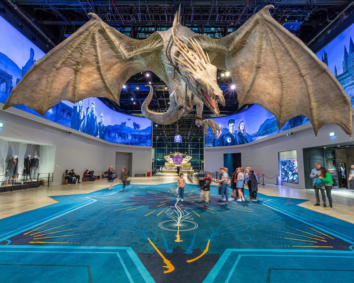 The Hub features a lifesize model of the Gringotts Ukrainian Ironbelly dragon