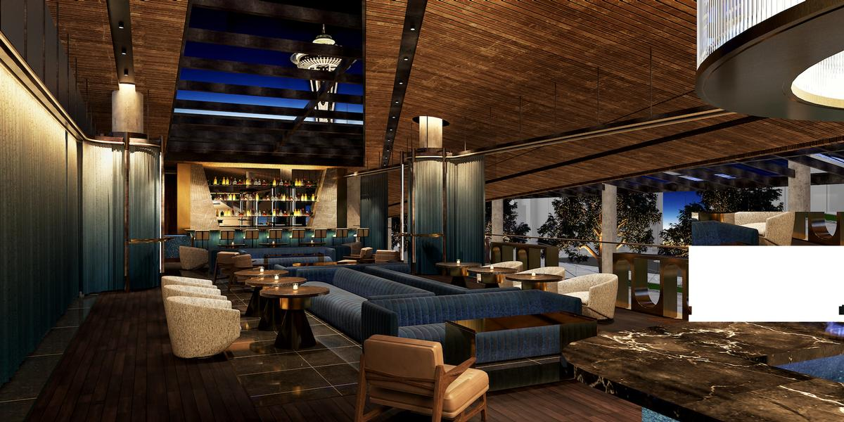 The Space Needles Club will be an intimate cocktail lounge providing views of Seattle's famous Space Needle / Rockwell Group