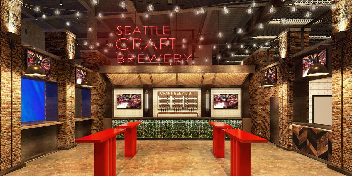They will each feature a Seattle craft brewery / Rockwell Group