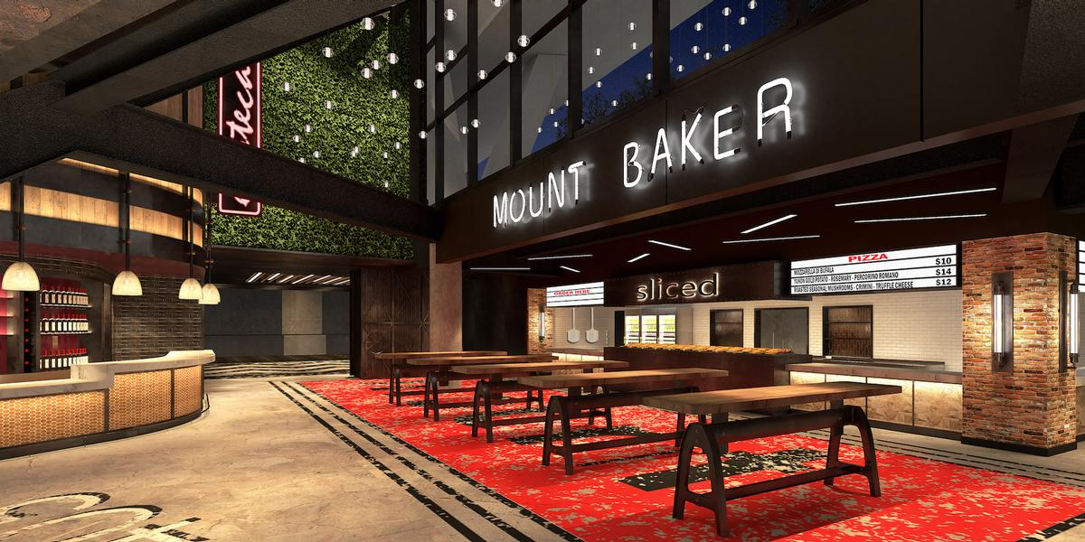 The Mount Baker food hall will accommodate a range of culinary experiences for up to 1,300 people / Rockwell Group