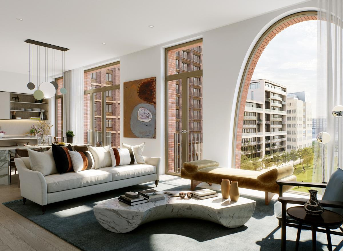 There will be 103 private residential homes ranging from studios to three-bedroom apartments / Alison Brooks Architects