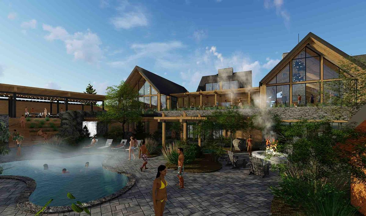 The spa is slated to open in December 2020