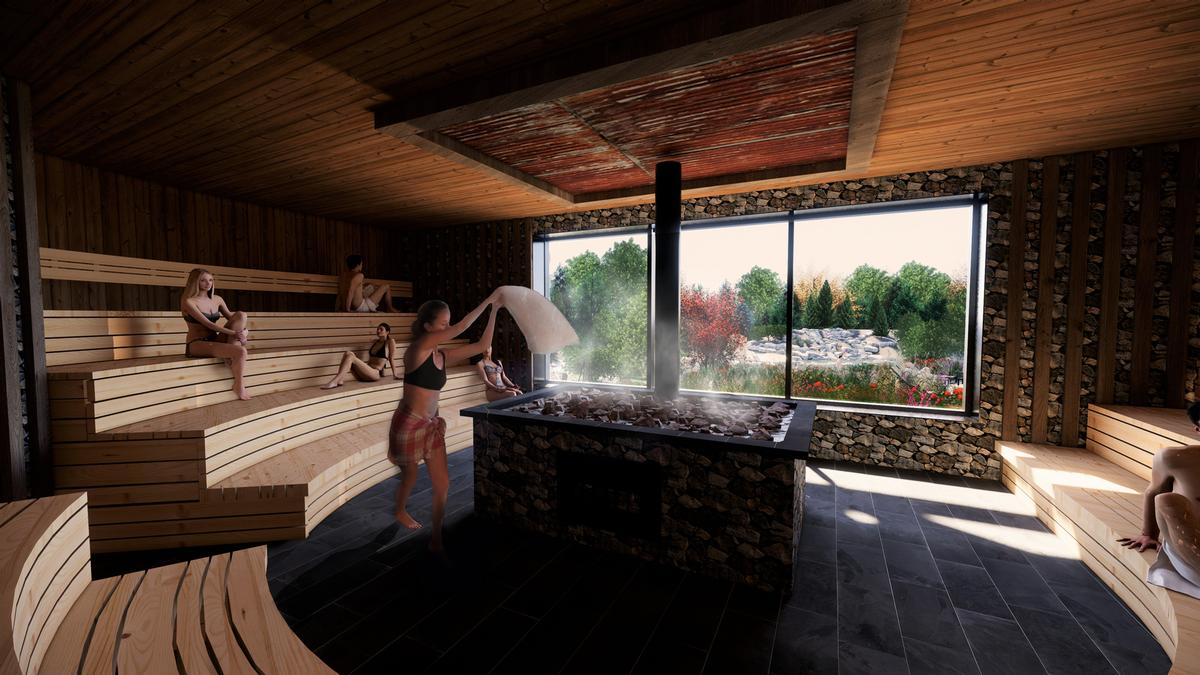 Guests will be able to visit a 12-seat sauna
