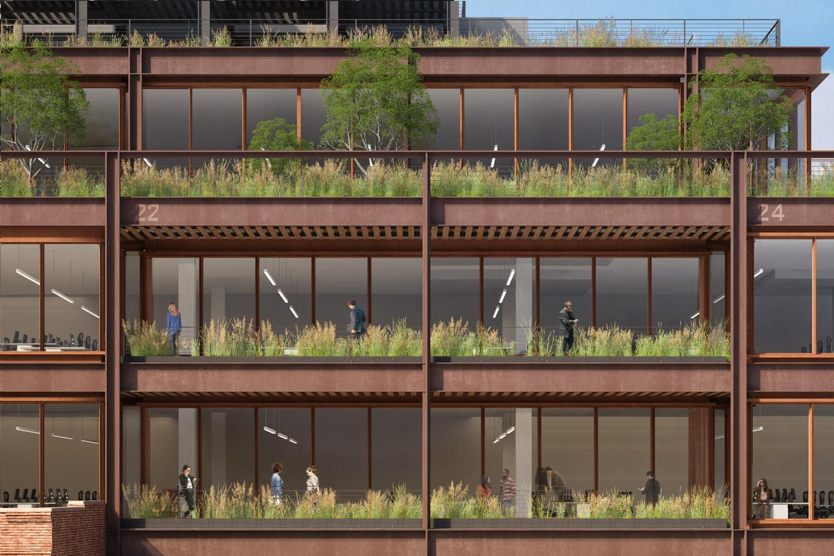 Biophilic design will promote wellbeing in the building's office spaces / COOKFOX Architects