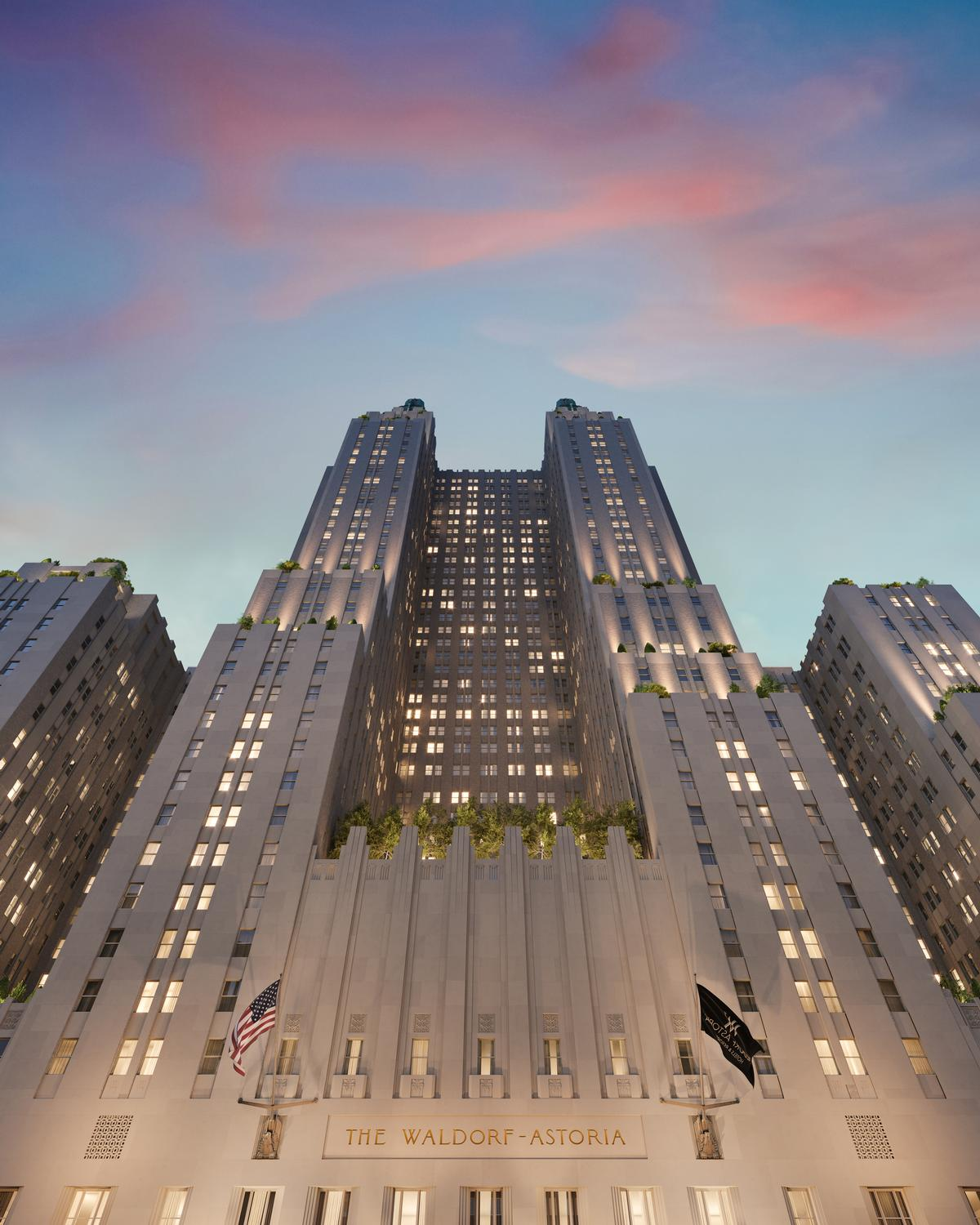 The Waldorf Astoria was originally designed by Schultze and Weaver
