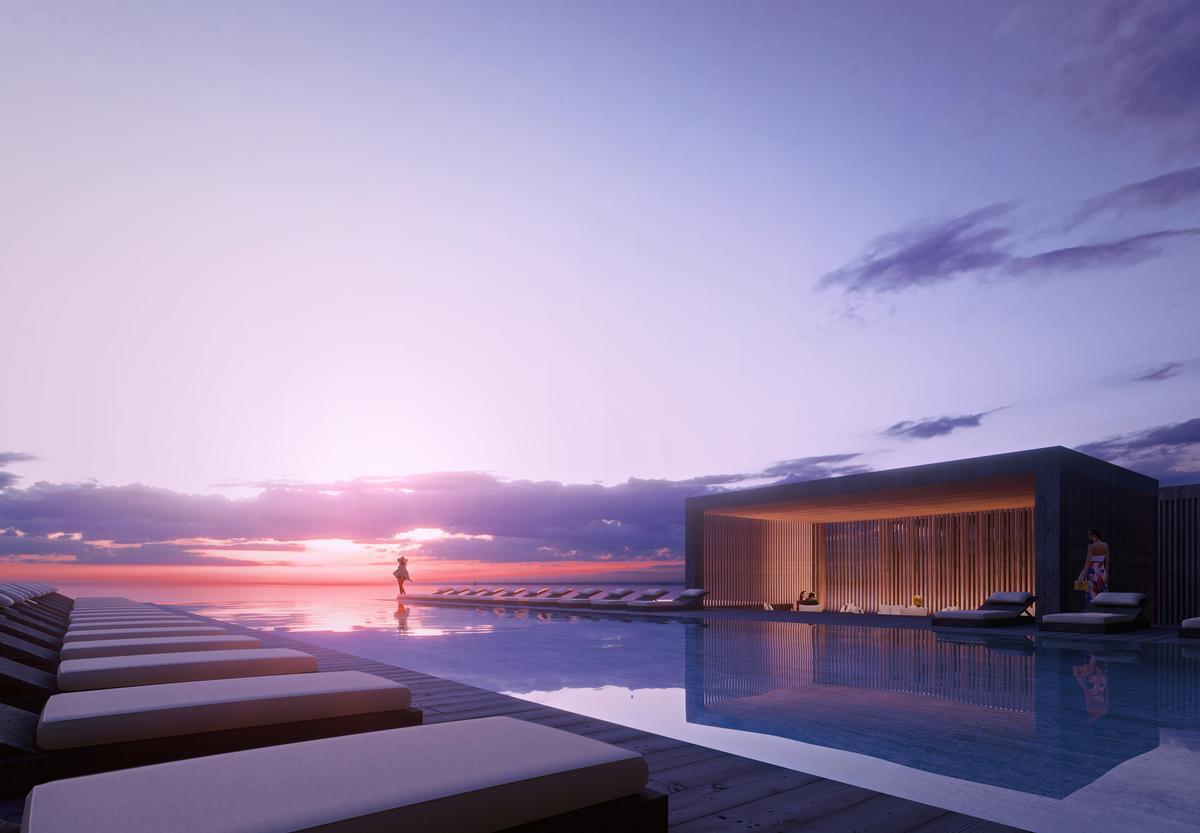 The illa Bimini resort will cover an area of 40ac (16ha) / Luxigon