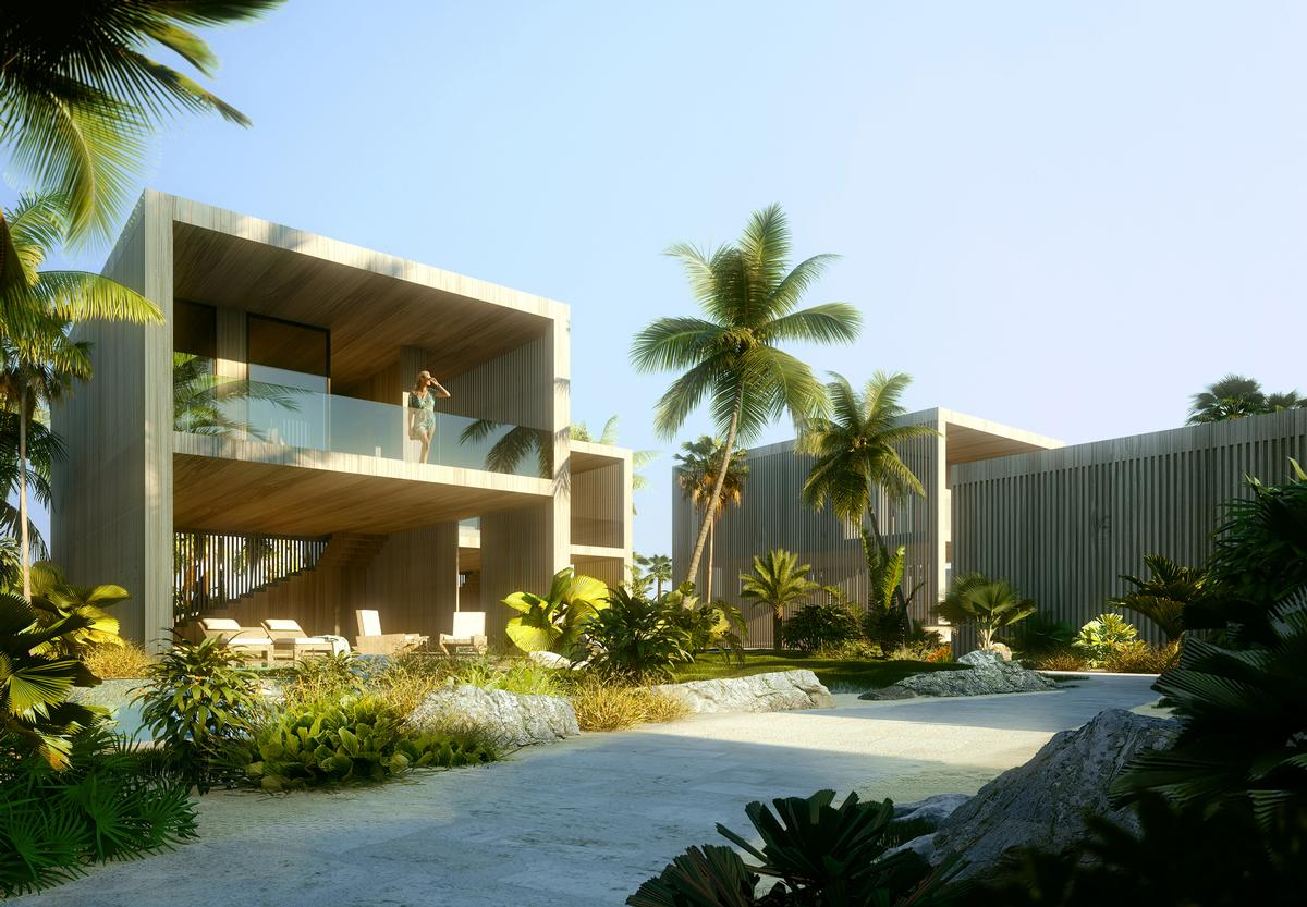The design of the resort draws of the beauty of the natural surroundings / Luxigon