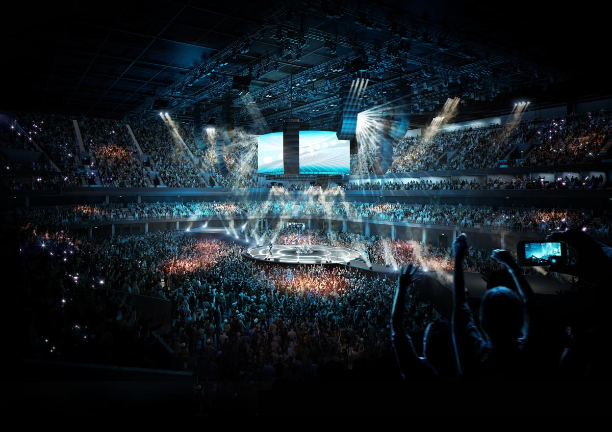 The arena will feature a steep, tiered seating bowl intended to bring fans close to the action and 'cutting-edge audio and visual technology'