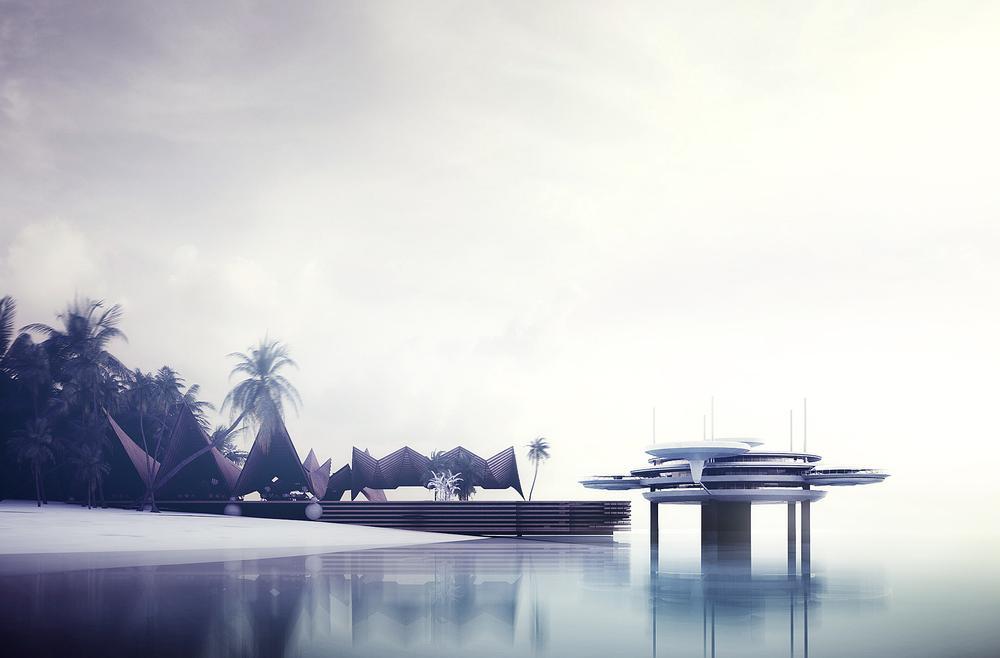 Deep Ocean Technology's Water Discus underwater hotel