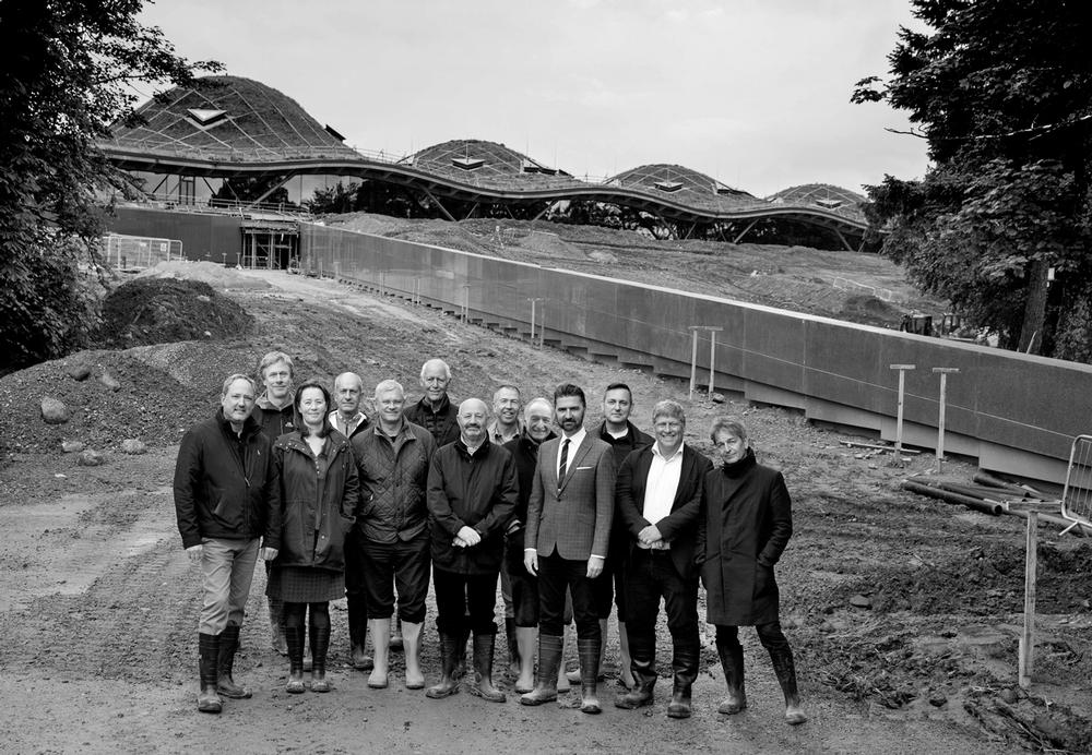 The RSHP partners at the Macallan Distillery during construction