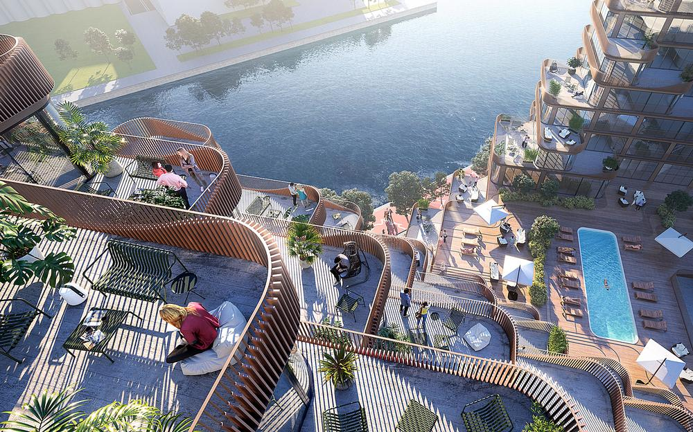 The Aqualuna residential complex will sit on Toronto's waterfront