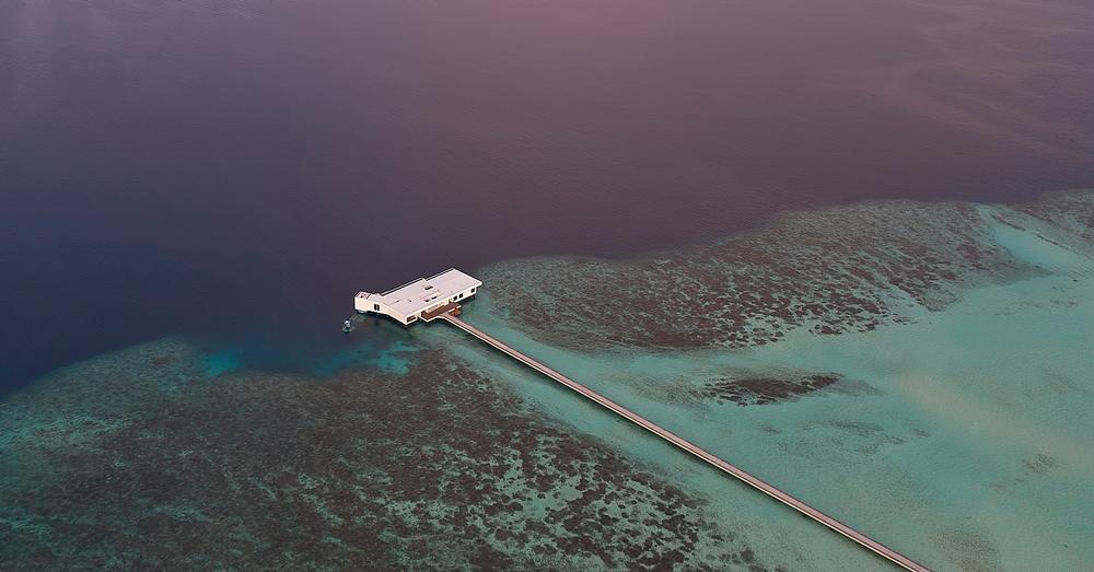 The Muraka Villa at the Conrad Maldives Rangali Island features an undersea bedroom with interiors by Yuji Yamazaki / Photo: Justin Nicholas