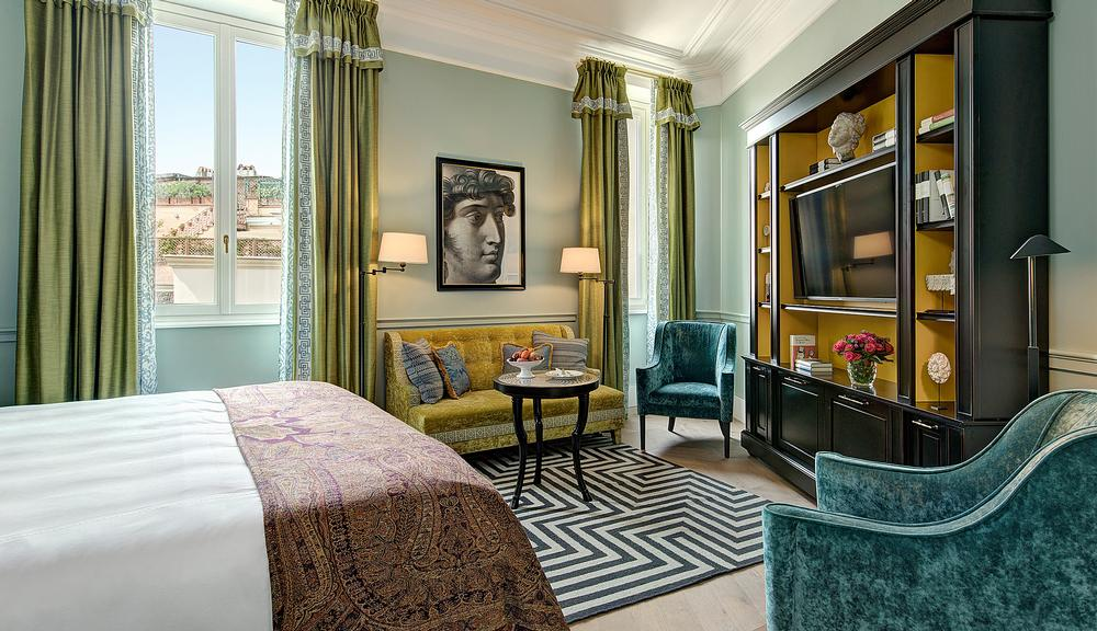 Hotel de la Ville has 104 rooms and suites, inspired by Rome's role in the era of the Grand Tour
