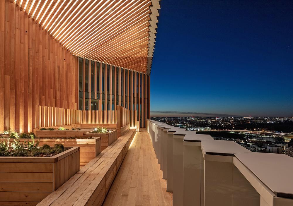The Cedar Garden – one of three sky gardens designed to encourage social interaction / Photo: Luke Hayes