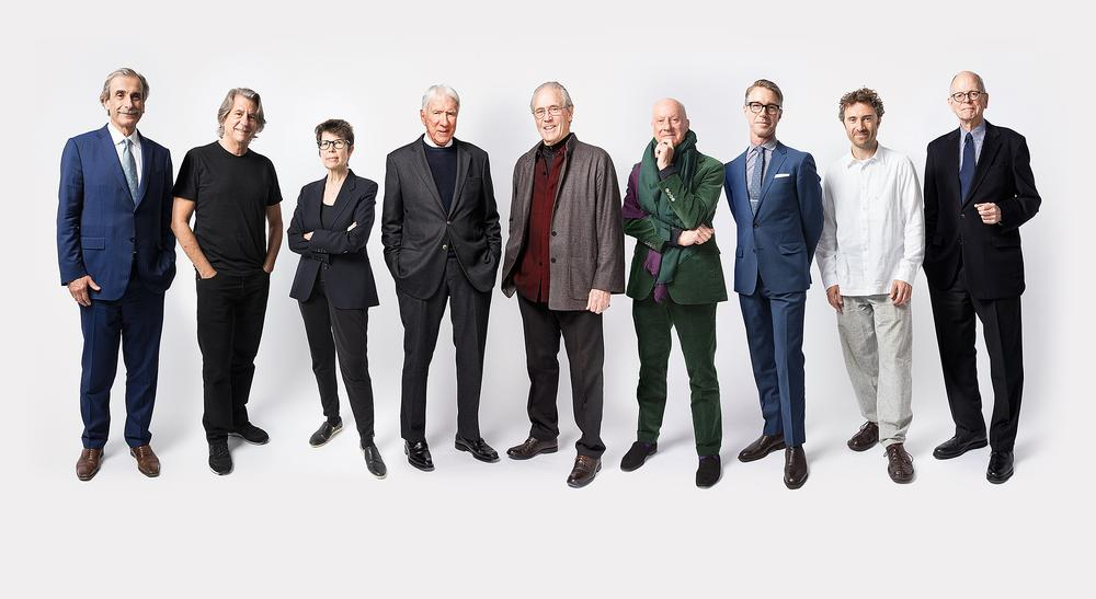 Photo at top of page, from left to right, the architects of Hudson Yards: David Manfredi, David Rockwell, Elizabeth Diller, Eugene Kohn, William Pedersen, Norman Foster, Thomas Woltz, Thomas Heatherwick and David Childs