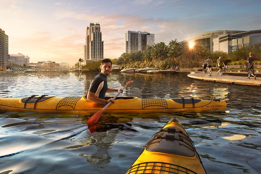 Water Street Tampa aims to reconnect Tampa with its waterfront, which is seeing an ongoing transformation