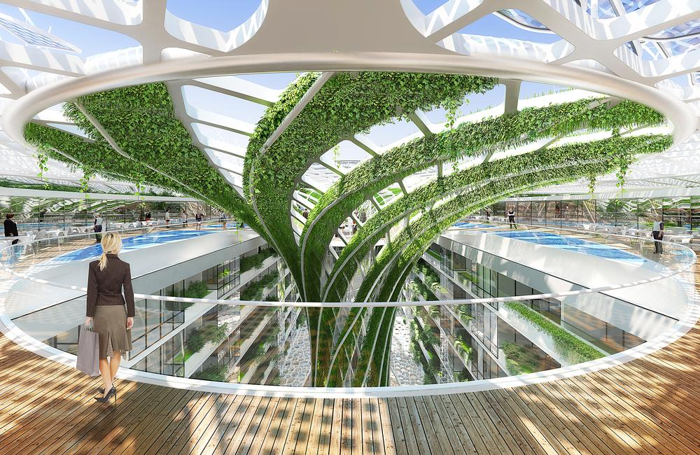 Vincent Callebaut Architects are behind the design of the  The Gate Heliopolis