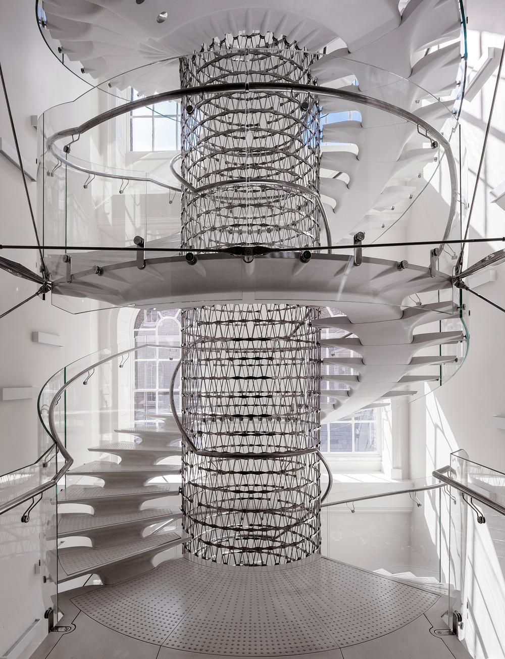 The Miles Stairs at Somerset House. Jiricna designed a modern staircase for the London landmark / Photo: Peter Cook