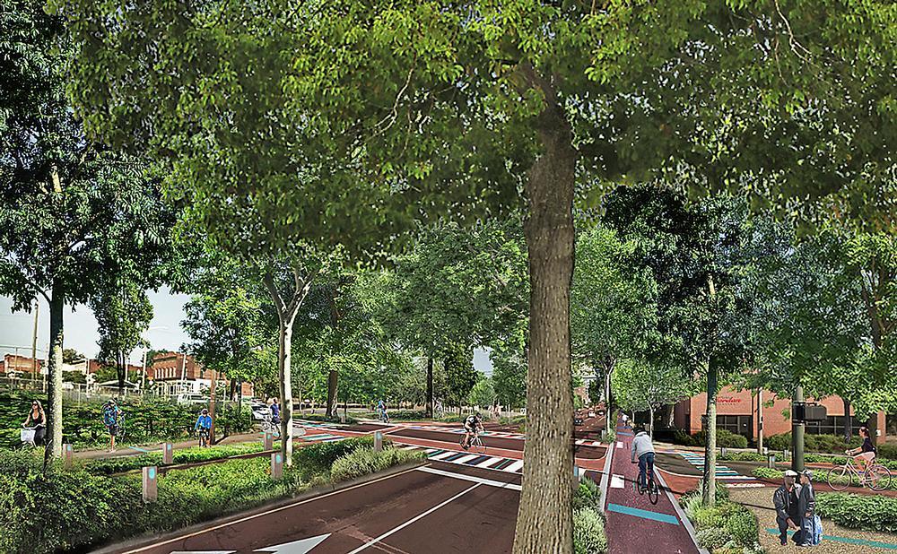 The Richmond BridgePark plan proposes repurposing an old bridge to create a pedestrian and cycle pathway / Image: BridgePark, Spatial Affairs Bureau, MWDC