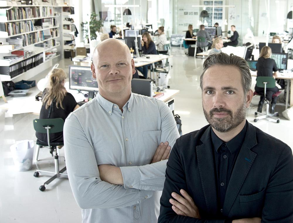 Ole Schrøder (left) and Flemming Rafn Thomsen (right) want to help cities prepare for climate change / Photo: Hans H Baerholm