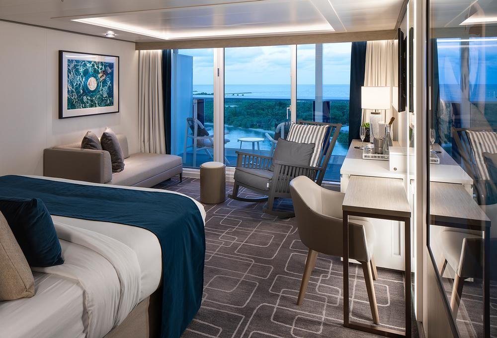 Hoppen's signature modern, luxurious style can be seen in her design of the Sky Suites