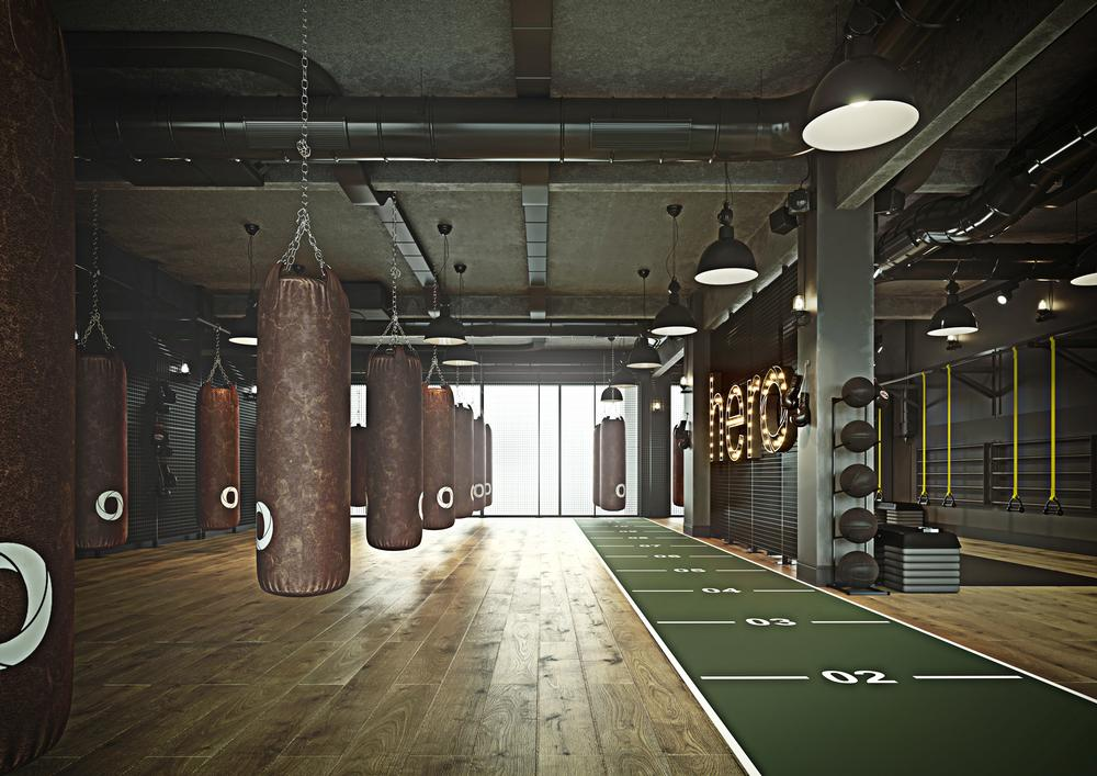 The four studios at the new Hero club include a space for athletics and conditioning