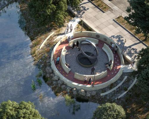Designed by Native American Vietnam war veteran Harvey Pratt, the Warriors' Circle of Honor memorial is due to be completed in 2020