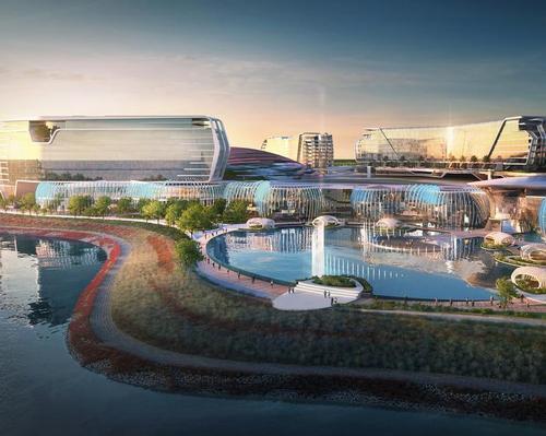 Mohegan Gaming and Entertainment building paramount theme park in Korea