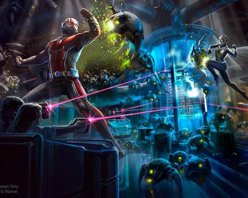 One of the images Disney released for its Ant-Man and The Wasp: Nano Battle! attraction earlier this year