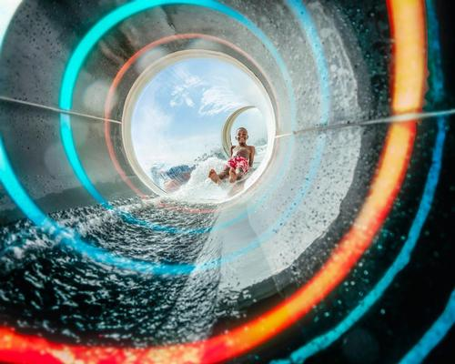 The Glassy waterslide is the world's first transparent waterslides