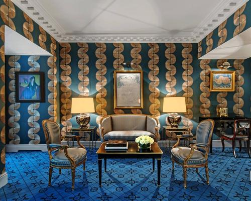 The new hotel features a medley of vibrant architectural styles and artworks. / Courtesy of Marriott International
