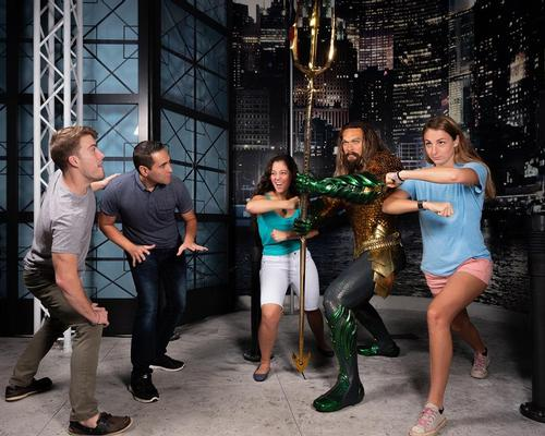 Aquaman is the fourth superhero to be added to the Justice League: A Call for Heroes walk-through experience at Madame Tussauds Orlando