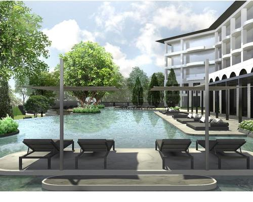 In addition to the spa and fitness centre, the Phratamnak Well Resort Pattaya will also include a yoga space, petanque lawn and a jogging track