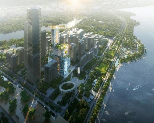 The futuristic structure will rise in Shenzhen, China. / Courtesy of MVRDV