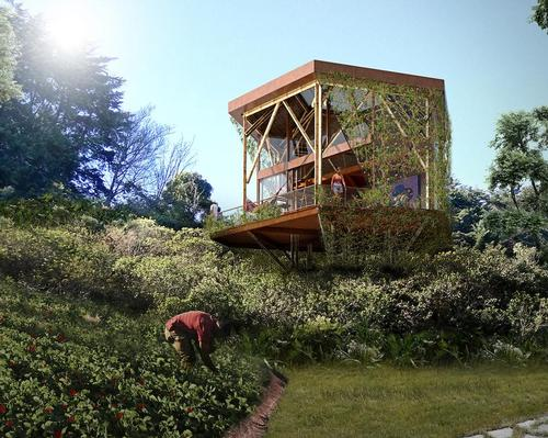 The retreat will plant two acres of organic gardens and food forests to supply its own restaurant