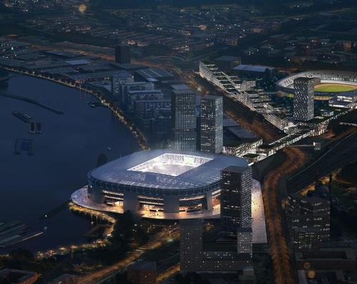 The new arena is on track to debut in 2023. / Courtesy of OMA, Photo by Frans Parthesius