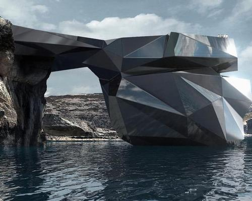 The new structure – once constructed – would replace Malta's iconic Azure Window, a rock formation in Gozo which collapsed in 2017. / Courtesy of Hotei Russia