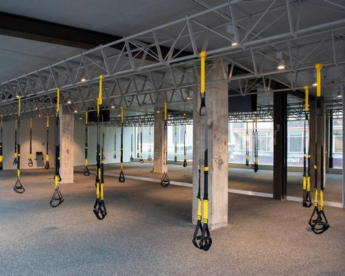 Occupying three floors, the 7,400sq ft Body Machine club consists of a large TRX studio