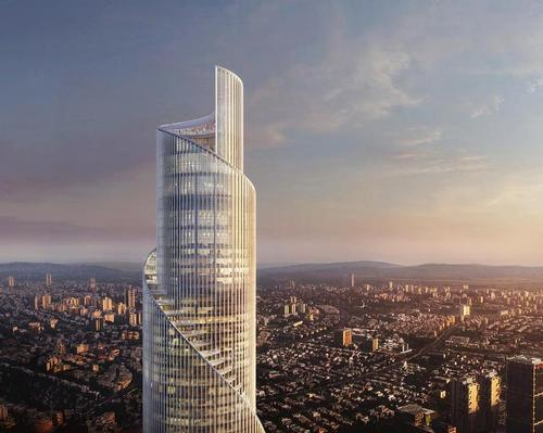 The future building – set to become the tallest in Tel Aviv, Israel – will resemble an unfolding scroll.