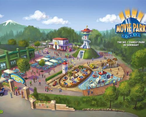 Movie Park Germany's illustration of the new
