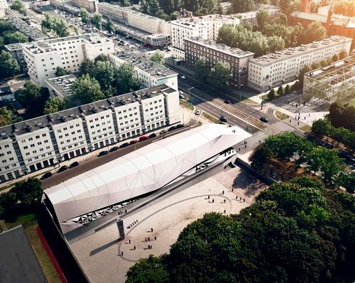 The Pawiak Prison Museum – first built in 1965 – occupies the former grounds of one of the Nazis' most notorious detainment facilities. / Courtesy of FAAB Architektura