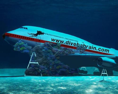 A submerged Boeing 747 will be the centrepiece of Dive Bahrain