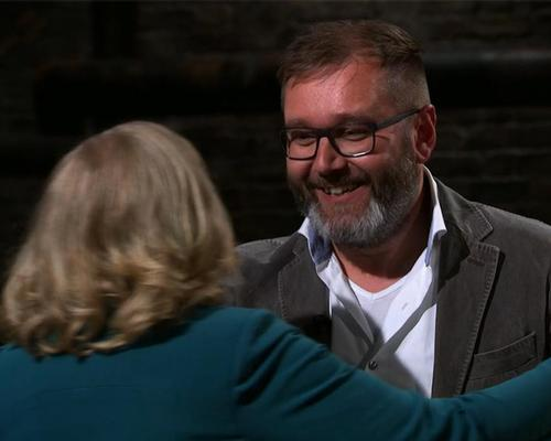 Van De Sant's founder, Robert Milder (left) secured a £70,000 investment from Deborah Meaden (left) on the Dragon's Den TV show