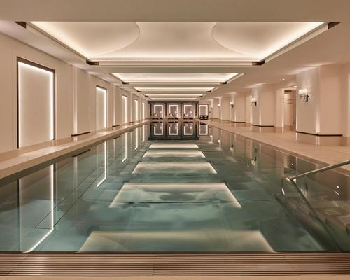 Wellness areas in the new property draw on the aesthetics of ancient spa towns like Bath and Harrogate.
