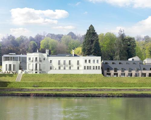 The new hotel and residences will be built on the grounds of a great house reportedly designed by landscape architect and writer Capability Brown. / Courtesy of SUSD