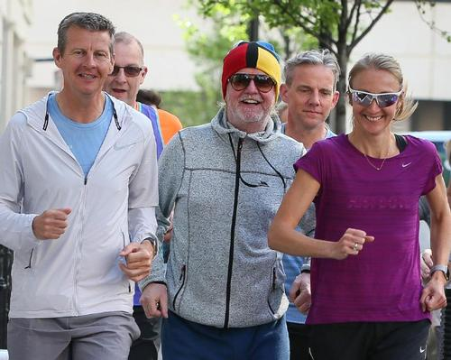 The event will be spearheaded by Chris Evans (middle) and includes inspirational talks by famous runners, such as Steve Cram (left) and Paula Radcliffe (right)