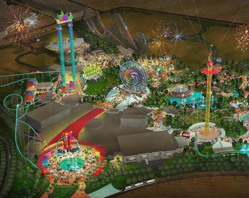 Six Flags Dubai was due to contain 27 rides across six themed zones