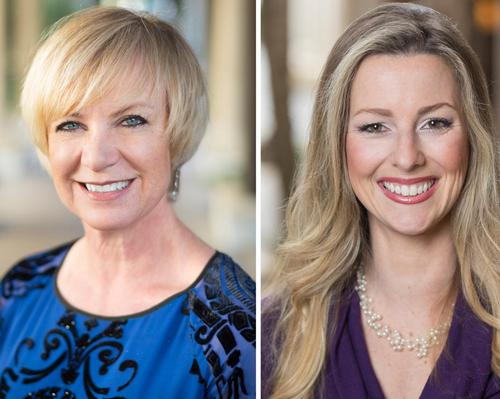 Ella Kent (left), who was previously director of spa and fitness, has been promoted to director of rooms and Dana Reitz (right) is now director of spa and fitness