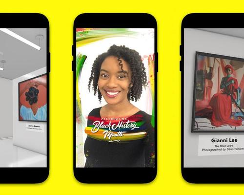 Snapchat creates virtual art gallery for Black History Month