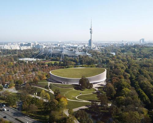 The future sports facility will be able to accommodate up to 11,500 spectators. / Courtesy of 3XN